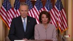 Nancy Pelosi and Chuck Schumer respond to Trump's presidential address