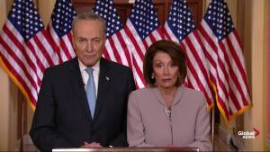 Nancy Pelosi and Chuck Schumer respond to Trump's presidential address
