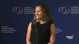 Freeland: Government must prevent dumping of steel and aluminum in Canadian market