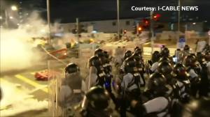 Hong Kong stresses government responded to protests, UK stands behind former colony