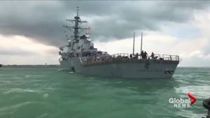 10 U.S. sailors feared dead after warship hits oil tanker (02:11)