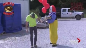 Would you accept donuts from a creepy clown?
