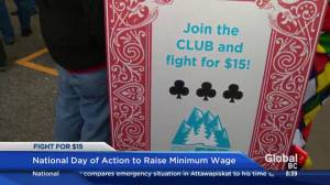 Fight for $15: National Day of Action aims to increase minimum wage in B.C.