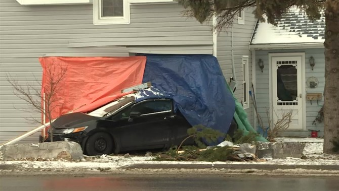 Woman charged after crashing vehicle into Wolfe Island home