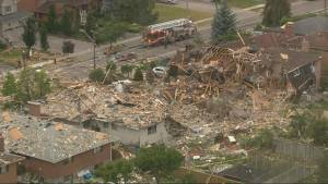 Mississauga house explosion leaves 1 person dead