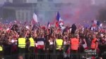 France fans celebrate World Cup win