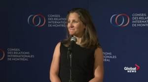 Freeland: No choice but to apply retaliatory tariffs against U.S.