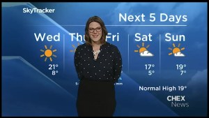 Seasonal temperatures and sunshine for Wednesday