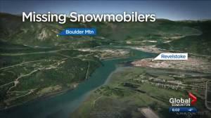 3 central Alberta men missing on Revelstoke sledding trip found safe (01:48)