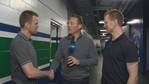 Henrik and Daniel Sedin clean out their lockers one last time