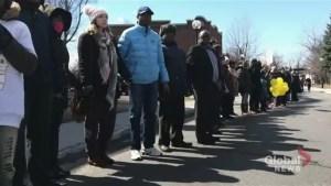 Montrealers form human chain for Ariel Jeffrey Kouakou