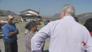 Premier John Horgan tours wildfire-affected areas