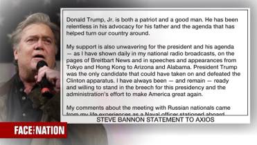 Steve Bannon apologizes to Trump in statement, touts effort to