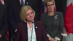 Alberta premier talks climate change plan, remains 'hopeful'