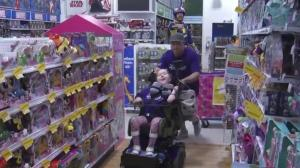 Girl born with spinal muscular atrophy treated to toy shopping spree