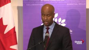 Minister Ahmed Hussen announces $18.4 million for pre-arrival immigrant settlement services