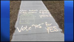 Trent Students asking others to vote yes for YES