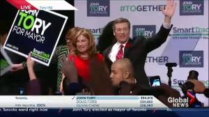 Toronto Election: Mayor-elect John Tory ready to unite Toronto