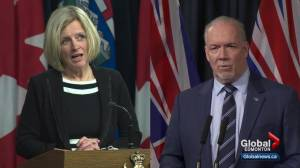 Alberta, B.C. premiers to meet face to face over Trans Mountain pipeline