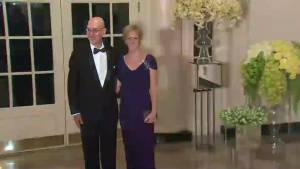 White House state dinner: NBA commissioner Adam Silver arrives