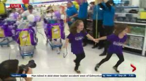 """LIVE: 10-year-old Sadie's 3-minute shopping spree at Toys""""R""""Us"""