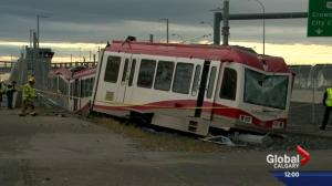 Calgary Transit driver injured in CTrain derailment at Tuscany LRT station