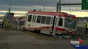 Calgary Transit driver injured in CTrain derailment at Tuscany LRT station