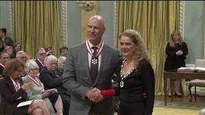 Mark Messier is inducted into the Order of Canada