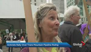 Activists rally over Trans Mountain pipeline ruling