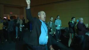 Quebec Election: CAQ headquarters burst into celebrations