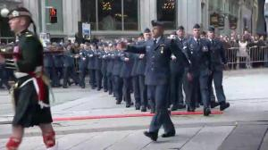 200-person marching contingent arrives at National War Memorial in Ottawa
