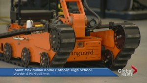 Former police bomb robot donated to Scarborough school