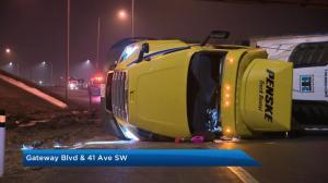 Edmonton freezing rain causes slick road conditions