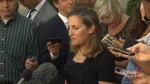 Freeland describes tariffs on Canadian softwood lumber as 'inappropriate'