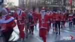 Hundreds of Santas take part in 10K run in France