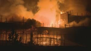 Huge fire at Brampton hospital construction site