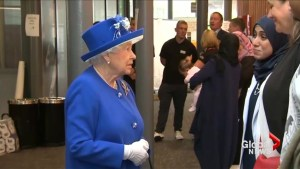 Queen and Prince William visit area hit by U.K. fire
