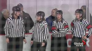 All-female officiating crew makes Saskatchewan hockey history