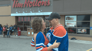Lethbridge couple ties the knot in local Tim Hortons