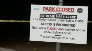 Metro Vancouver parks, trails closed amid hot, dry, smoky weather