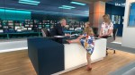 Lively toddler upstages ITV News interview