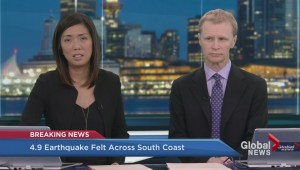 What's the state of BC transit following 4.3-magnitude earthquake?