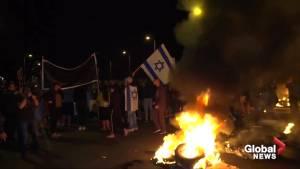 Ceasefire sparks protests in Israel, celebration in Gaza