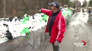 Tensions high in Île-Bizard as fight continues to keep floodwaters at bay