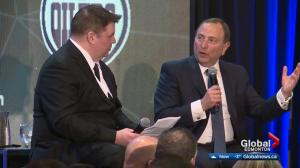 Commissioner Gary Bettman teases major NHL event in Edmonton