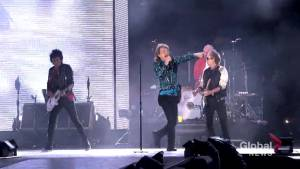 Rolling Stones rock out in Ontario at what may be their last Canadian performance (02:03)