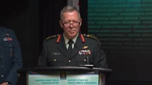 Canadian Forces see sharp increase in reports of inappropriate sexual behaviour over last year (00:48)