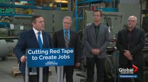 Kenney announces plans for how he would remove red tape hurting Alberta businesses