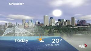 Edmonton early morning weather forecast: Monday, August 13, 2018