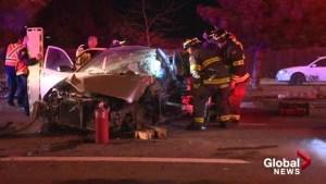 Highway crash sends one to hospital in Kelowna